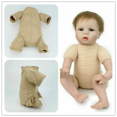 "22"" Reborn Baby Dolls Doe Suede Bodies for Newborn Doll Kits With 3/4 Limbs"