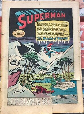 Golden Age Comic Action Comics #116 January 1948 Superman Missing Cover