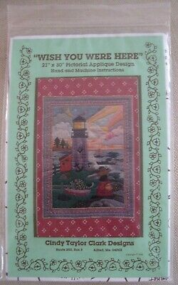 "1988 Cindy Taylor Clark Design Quilt Pattern ""Wish You Were Here"""