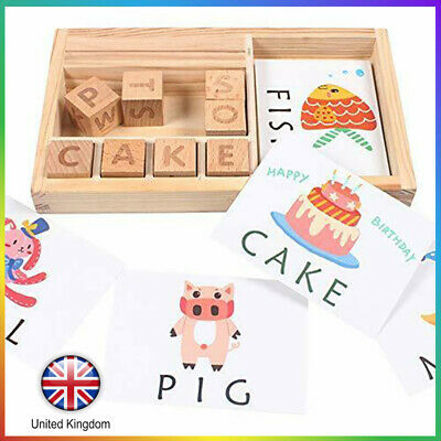 3-in-1 Spelling Learning Game Wooden Spelling Words Enlightenment Baby UK