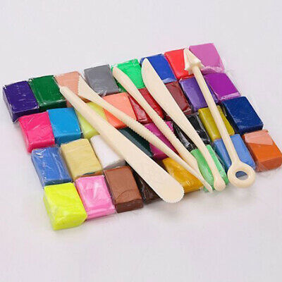 32 Colors Oven Bake Molding Modeling Polymer Clay Block Set Kid Educational Toy