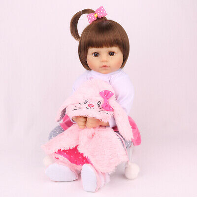 "Reborn Baby Girl Dolls 16"" Full Body Silicone Vinyl Lifelike Xmas Gifts Doll Toy"