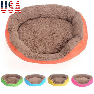 Pet Dog Cat Calming Bed Round Nest Warm Soft Plush Comfortable for Sleeping #CM