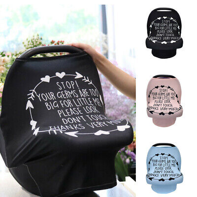 New Baby Kid Letter Stretch Nursing Breastfeeding Cover Car Seat Stroller Canopy