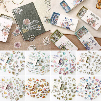 40Pcs /box Flower Food Stickers Sealing Diary Label Sticker for Scrapbooking DIY