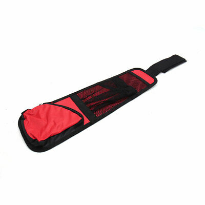 Car Interior Headrest Mount Mesh Pocket Storage Bag Cup Bottle Holder Red