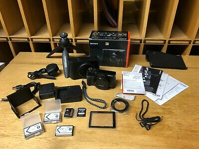 Sony DSC-RX100 III Digital Camera Genuine Batteries SD Cards Case Charger & more