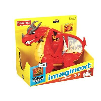 NEW Fisher-Price Holiday Birthday Kid Gift Play Toy Eagle Talon Castle Dragon