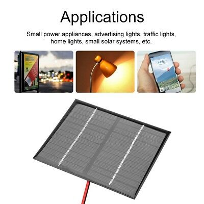 1.5W 12V Mini Solar Panel Power Module+Crocodile Clip For Battery Phones Charger