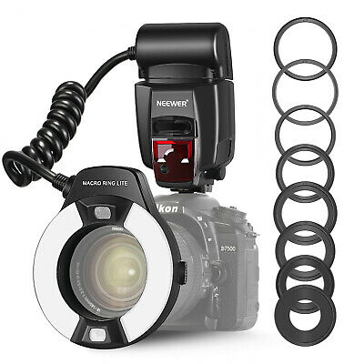 Neewer Macro TTL Ring Flash Light with AF Assist Lamp for Nikon D7200 D7100