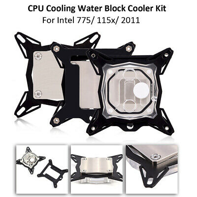1PCS CPU Water Cooling Block Waterblock 50mm Copper Base Inner Channel For Intel