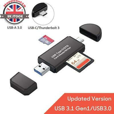 3 in 1 USB 3.0 Type C USB C TF SD/Micro Card Reader Adapter For Macbook Android