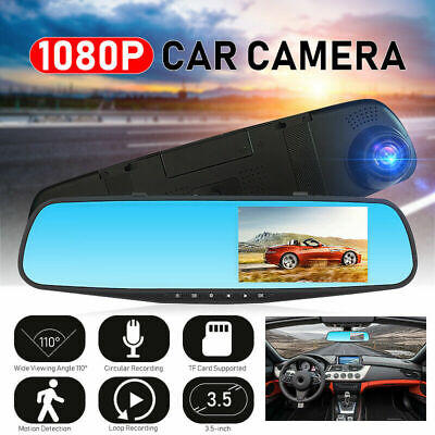 "1080P FHD 3.5 "" Car DVR Dash Cam Driving Camera Rearview Mirror Video Recorder^"
