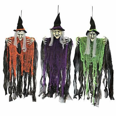 "Halloween Decorations 3 Wicked Creepy 35.3"" Hanging Bendable Witches Yard Decor"