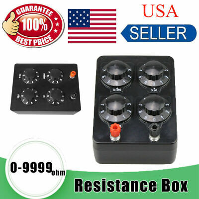 New Resistance Box  Precision Variable Decade Resistor Resistance Box 0-9999 ohm