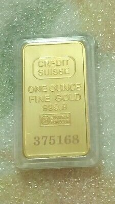 1 Lingotto Credit Suisse oncia oro 24 Kt