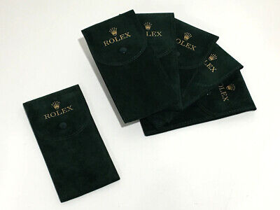 5+1 Pochette Rolex Watch Box Green Floccato Promo Monoposto Custodia TESSUTO