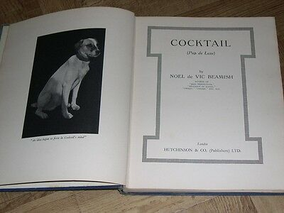 "Rare Wire Haired Fox Terrier Dog Story Book ""Cocktail"" 1St 1934 By Beamish"