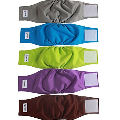 vecomfy Belly Bands for Male Dogs 5 Pack,Premium Washable Reusable Small Dog