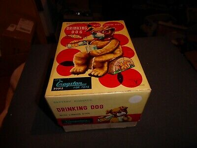 Yone 3012 Cragstan vintage mint/box Drinking Dog Augen leuchtepristine Top 50ies