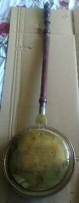 Antique Early 19th Century Copper and Brass Warming Pan