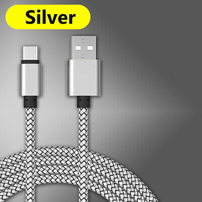 Nylon Braided Rope USB-C Type-C 3.1 Data Sync Charging Cable Cord Sliver