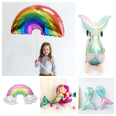 Mermaid Party Baby Shower Happy Birthday Shell Foil Balloon Party Decor Kids Toy