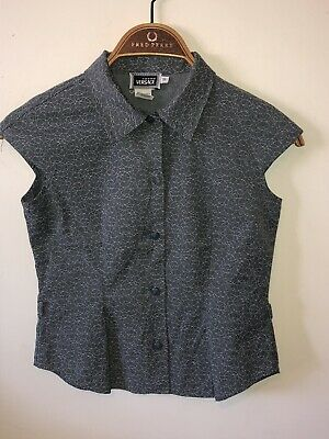 Girls Young Versace Blouse Age 10 Grey Stamped Buttons Designer