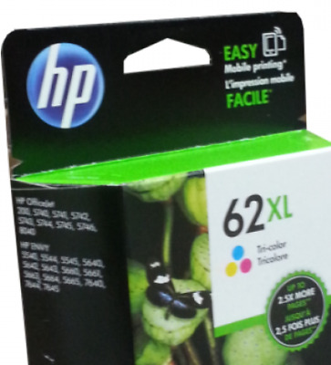 NEW HP 62XL Color Ink Cartridge C2P07AN GENUINE
