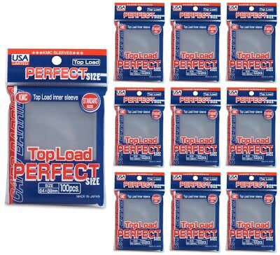 KMC Standard Size Sleeves - Perfect Size (Perfect Fit) [10 packs]