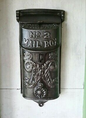 Vintage STANDARD NO. 2 Cast Iron Mail Box