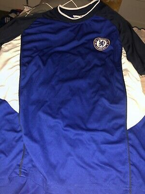 Chelsea FC Official Football Gift Mens Poly Training Kit T-Shirt L