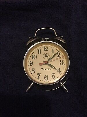Westclox Alarm Clock Wind Up Excellent Condition All Working Vintage