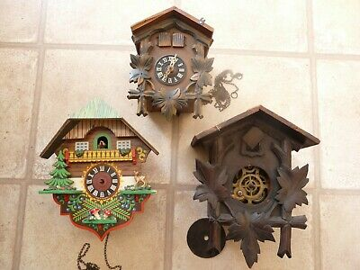Cuckoo Clock Job Lot For Spares Or Repair