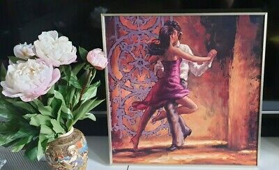 Zeph Amber Floating Frame Canvas Dance Me In Wall ArtContemporary painting