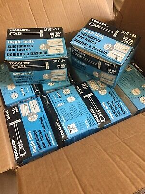 Lot Of 10 Boxes Toggler 3/16-24 Toggle Bokt Anchers