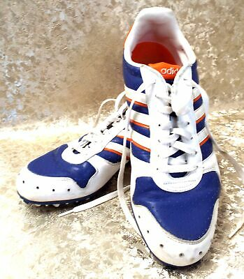 Mens ADIDAS Orange, Blue + White Astro-Turf Trainers UK Size 10.5 - S25