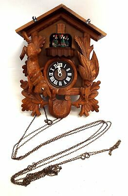 Vintage LARA'S THEME FROM DR SHIVAGO EDELWEISS Wooden Cuckoo Clock - W45