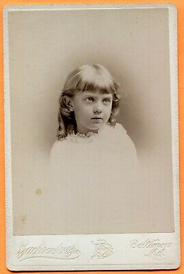 Baltimore, MD, Portrait of a Young Girl, by Bachrach, circa 1890s Backstamp