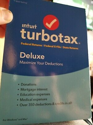 Intuit 2018 TurboTax Deluxe Federal E-File & State Tax, for Windows and Mac - CD
