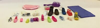 VTG 1990s Bag of BARBIE DOLL Accessories Many Single Shoes Boots no pairs