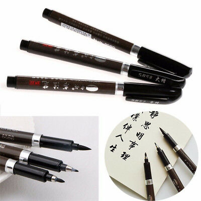 3Pcs Features Chinese Pen Japanese Calligraphy Writing Art Script Painting Brush