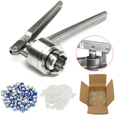 20MM Manual Crimper Hand Seal Ring Machine Tool with 100 Vials + Stoppers + Caps