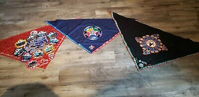2019 24th Jamboree Host lot Canada Mexico USA Neckerchief patch set Contingent