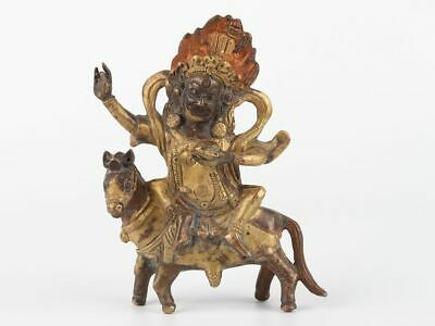 Chinese Exquisite Handmade Copper gilt figure and animal statue