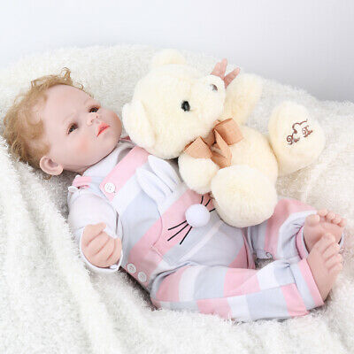 Reborn Baby Dolls Silicone Vinyl Newborn Realistic Real Life Handmade Xmas Gift