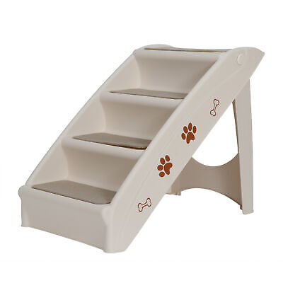 Foldable Light Weight Pet Stairs Dog Cat up to 100 Pounds 4 Steps W/Rubber Feet