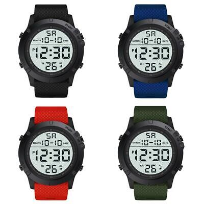 Men Sport Electronic LED Digital Display Multifunction Outdoor Male Watches NEW