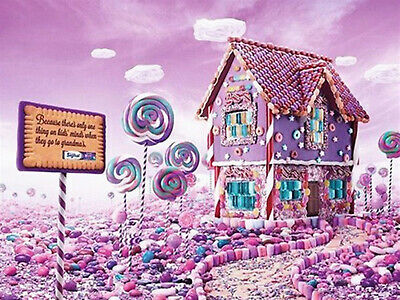 DIY 5D Diamond Painting Pink Candy house Embroidery Fashion Decor Full drill 815
