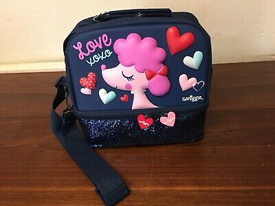 Smiggle Poodle Lovely Cute Dog  Sequin Hardtop Lunch Box  New